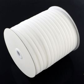 Vienpusė velvetinė juostelė, baltos spalvos 12 mm, 1 metras