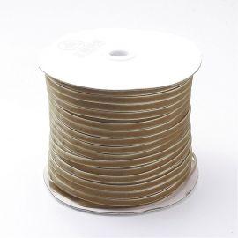 One-sided corduroy stripe, brownish 6 mm, 1 meter