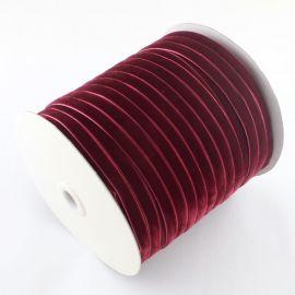 Односторонняя бархатная полоса, темно-красная 9 мм, 1 метр