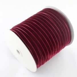 One-sided corduroy stripe, dark red 9 mm, 1 meter
