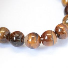 Natural beads of the tiger eye 8 mm, 1 strand