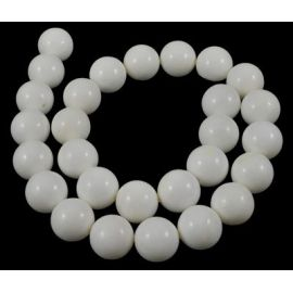 Natural SHELL pearl beads, white, necklaces, bracelets, worth 10 mm, 1 strand