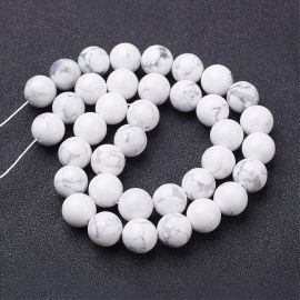 Natural houlite beads 10-11 mm, 1 strand