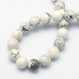 Dabīgas houlīta pērles 8,5 mm, 1 pavediens
