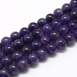 Natural amethist beads 10mm, 1 strand