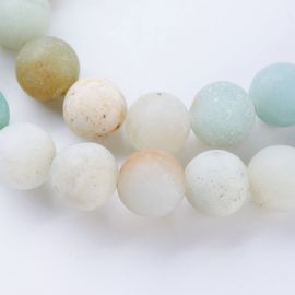 Natural amazonite beads 8 mm, 1 strand