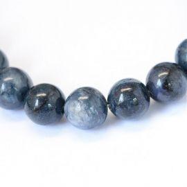 Natūralūs sodalito karoliukai, mėlynos spalvos, vėriniams, apyrankėms, verti 8 mm, 1 gija