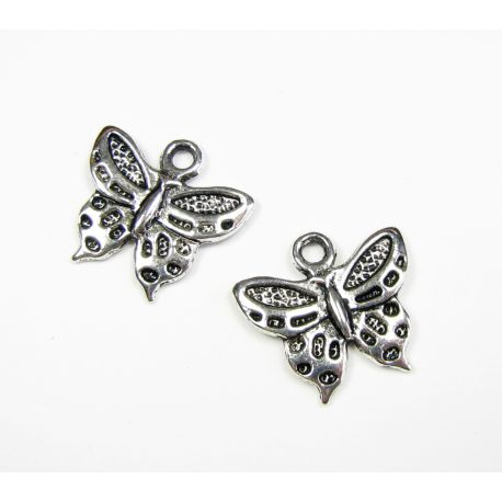 """Pendant """"Butterfly"""" aged silver color"""