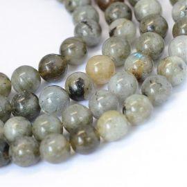 Natural labradoritoite beads 8-9 mm, 1 strand