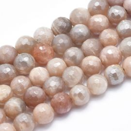 Natural Solar Stone Beads 8 mm., 1 strand