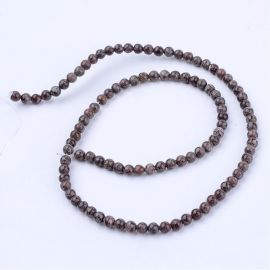 Natural snow obsidian beads 8 mm., 1 strand