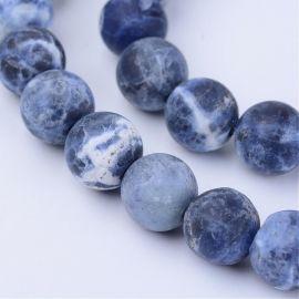 Бусины из натурального содалита, синие, для колье, браслетов, 6 мм, 1 нить