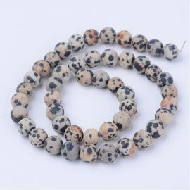 Natural beads of dalmatic jaspi 6 mm., 1 strand