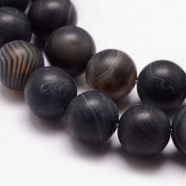 Natural agate beads 10-11 mm., 1 strand