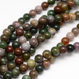 Natural Indian agate beads 10 mm., 1 strand