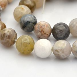 Natural agate beads 10 mm., 1 strand
