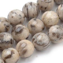 Бусины из натурального полевого шпата 8 мм., 1 нитка