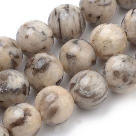 Natural feldspar beads 8 mm., 1 strand