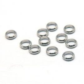 Stainless steel 304 closed jump rings 7x2 mm., 10 pcs.