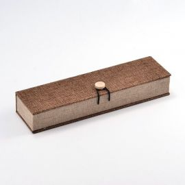 Wooden gift box for necklace, brown 242x65 mm, 1 pcs.