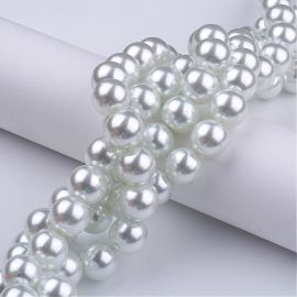 Glass pearls 10 mm., 1 strand