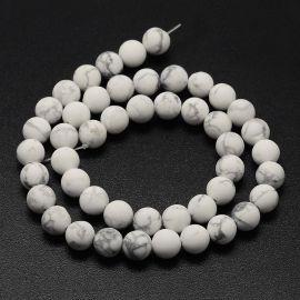 Dabīgas houlīta pērles, 10 mm., 1 dzīsla