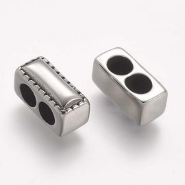 Stainless steel 304 clasp detail . Nickel color, price - 1.2 Eur per 1 pcs
