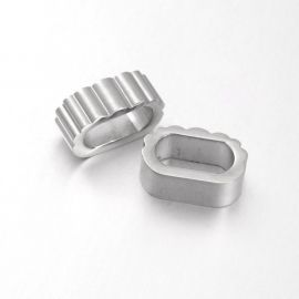 Stainless steel 304 clasp detail . Nickel, oval, price - 0.7 Eur per 1 pc