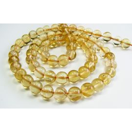 Natural lemon stone beads 5-6 mm. Hand-processed.