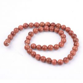 Synthetic solar stone beads, 10 mm., 1 strand