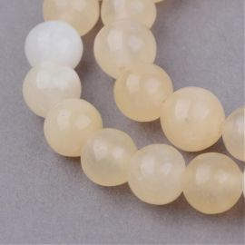 Yellow jade beads, 10 mm., 1 strand