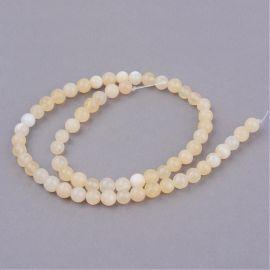 Yellow jade beads, 10 mm., 1 strand