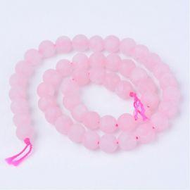 Natural beads of pink quartz, 8 mm., 1 strand