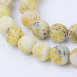 Natural Yellow turquoise beads, 8 mm., 1 strand