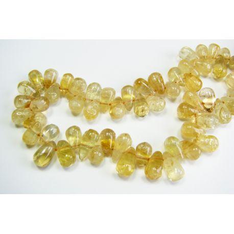 Looduslikud sidrunikivist helmed 7-10 mm. Tilga kuju. Käsitsi töödeldud.