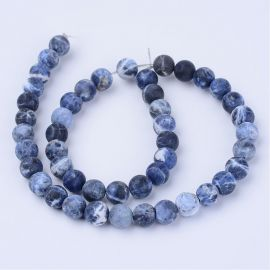Natural sodalite beads, 8 mm., 1 thread