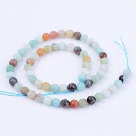 Natural amazonite beads . Greenish-beige, round shape, price - 6.5 Eur per 1 strand