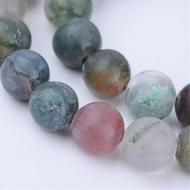 Natural Indian agate beads, 6-7 mm., 1 strand