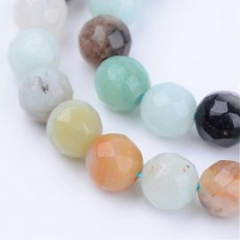 Natural amazonite beads, 5-6 mm., 1 strand