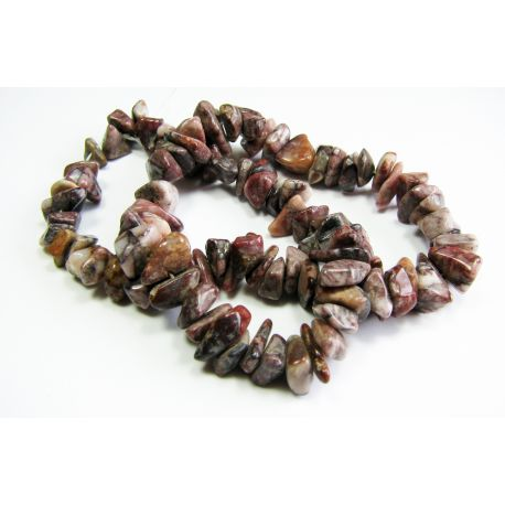 Natural agate stone beads/rubble, 7-9mm.