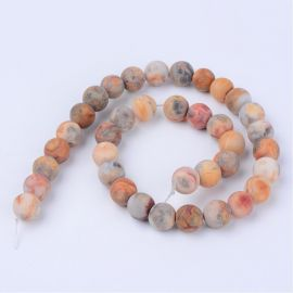 Natural agate beads, 6 mm., 1 strand