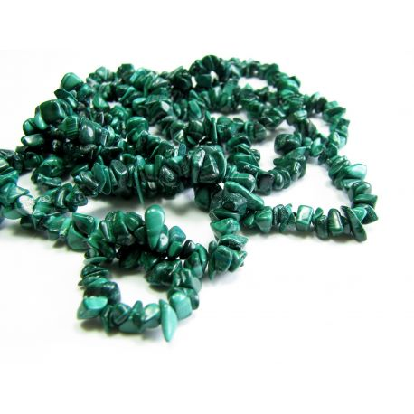 Magic alcoe stone beads/chipping thread. 43cm long. 3-7 mm