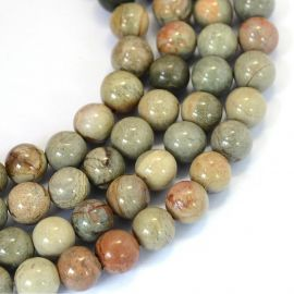 Natural bea herae beads, 8 mm., 1 strand