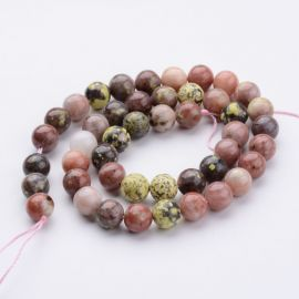 Natural stone beads, 8 mm., 1 strand