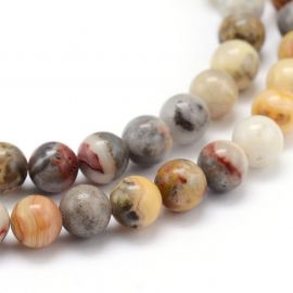 Natural agate beads, 8-9 mm., 1 strand