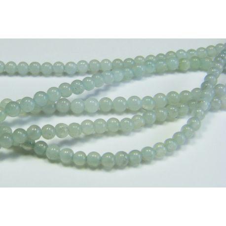 Amazonite stone beads azure color aval shape 2 mm