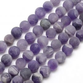Natural Amethyst beads, 12 mm., 1 strand