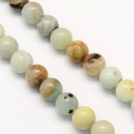 Natural Amazonite beads, 6 mm., 1 strand