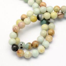 Natural Amazonite beads, 6 mm., 1 strand