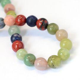 Stone beads mix, 8 mm., 1 strand